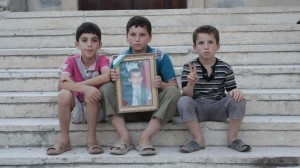 kids in Maarat an-Numan, Syria, for the movie Syria Inside