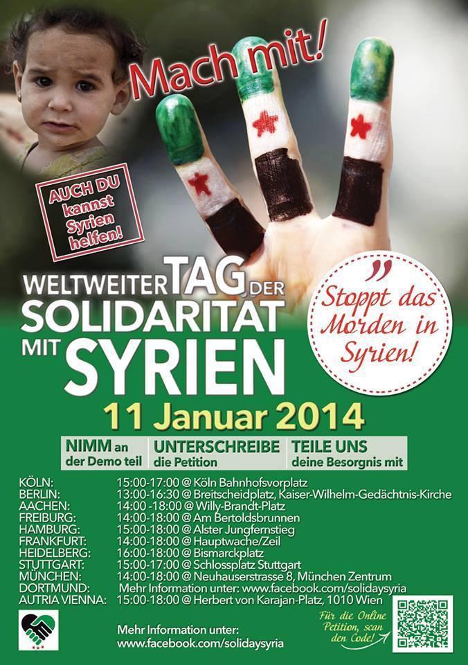 Internationaler Tag der Solidarität für Syrien
